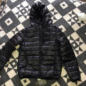 Cropped Black Puffer Jacket